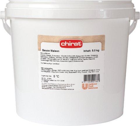 Chirat Sauce Maison 5 KG Eimer