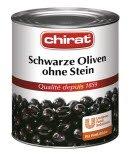 Chirat Schwarze Oliven ohne Stein 850 g