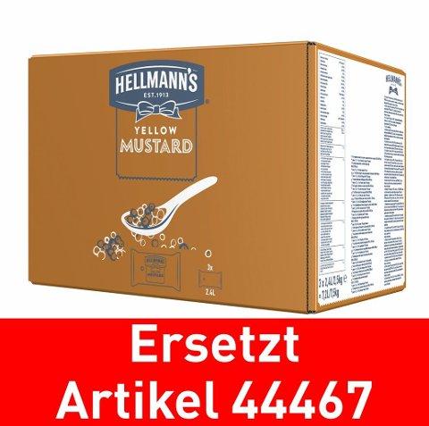 Hellmann's Yellow Mustard - Beutel für Dispenser 3x2.5kg - ersetzt Knorr Senf scharf 3x2.5kg (44467)
