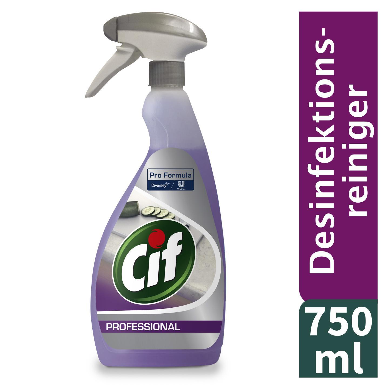 Cif Professional 2in1 Desinfektionsreiniger - Sprühflasche 750ml -