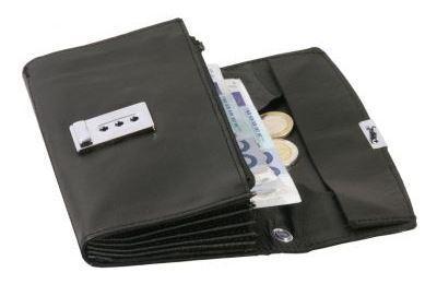 INTERGASTRO Kellnergeldtasche aus schwarzem Leder  -