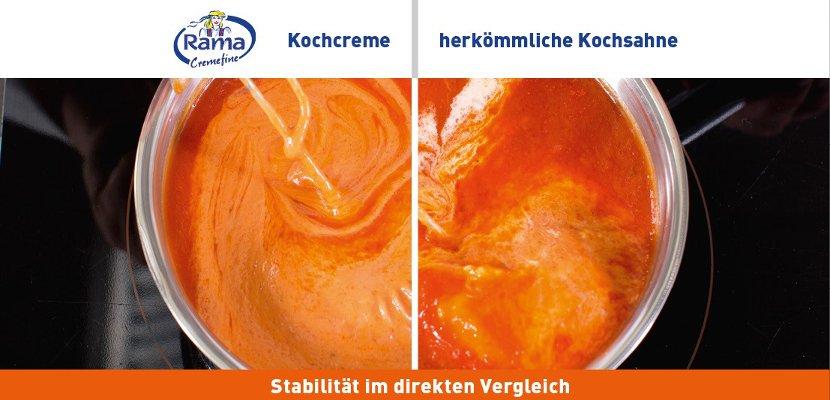 Rama Cremefine Kochcreme - Alternative zu Kochsahne auf Pflanzenölbasis 1 L - Hohe Stabilität in heißen Suppen und Saucen!