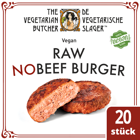 The Vegetarian Butcher - Raw NoBeef Burger - Veganer Burgerpatty auf Pflanzenprotein-Basis 2,26 kg -