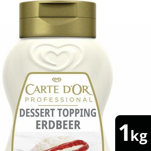 Carte D'or Dessert Topping Erdbeer 1 KG -