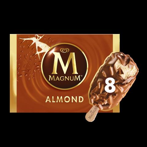 Magnum Mandel Eis am Stiel 8 x 110 ml -
