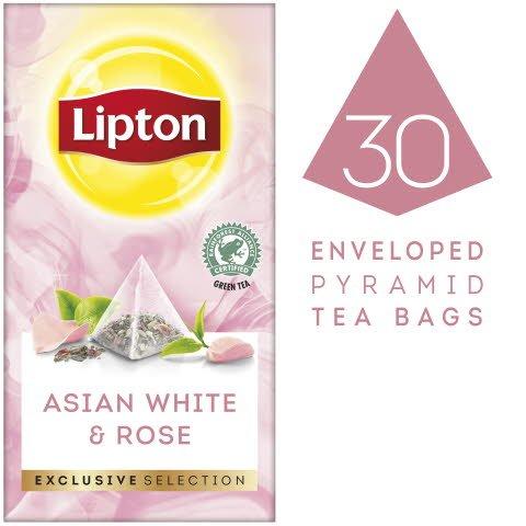 Lipton Asiatischer Weißer Tee & Rose Pyramid 30 Beutel