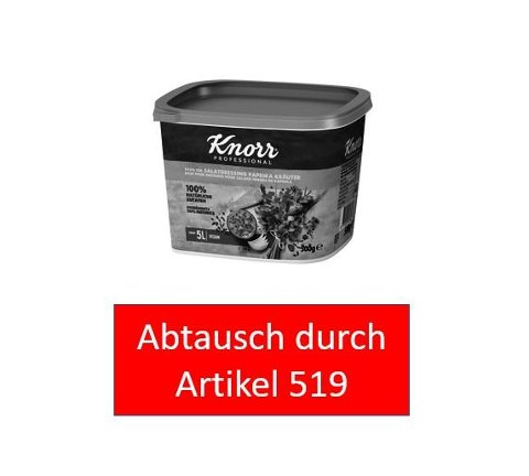 Knorr Basis für Salatdressing Paprika Kräuter 100% natürliche Zutaten 500 g -