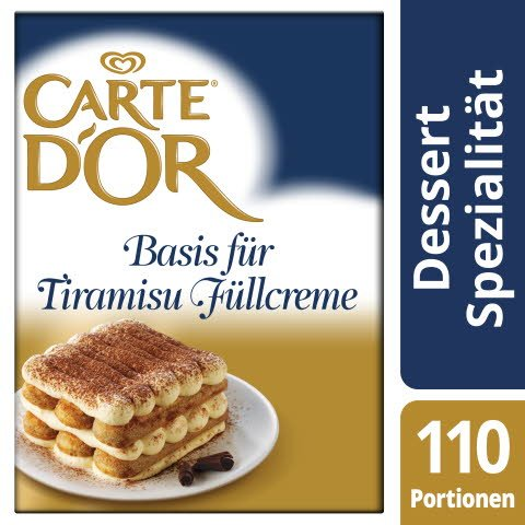 Carte D'or Basis für Tiramisu-Füllcreme 1,8 KG