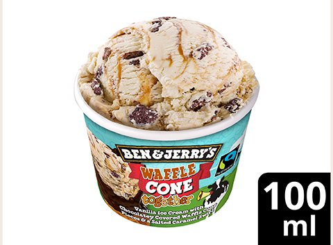 Ben & Jerry's Waffle Cone Together Eis Becher 100 ml -