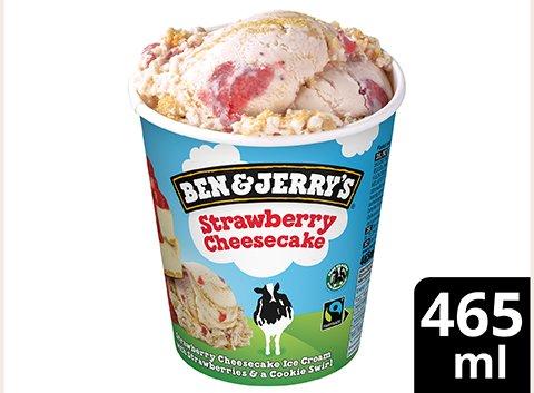 Ben & Jerry's Strawberry Cheesecake Eis Becher 465 ml -