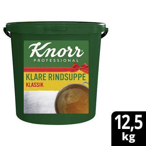 Knorr Professional Klare Rindsuppe mit Suppengrün KLASSIK 12,5KG - Knorr Klare Rindsuppe – beliebter Geschmack, sofort einsatzbereit und gut kalkulierbar.