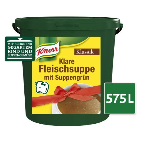 Knorr Klare Rindsuppe Klassik mit Suppengrün 12.5kg Eimer -