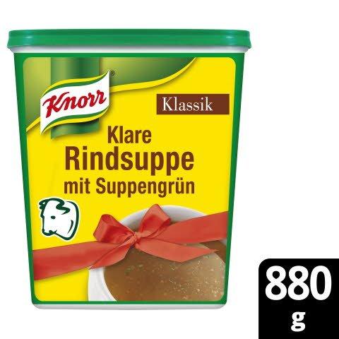 Knorr Klare Rindsuppe Klassik mit Suppengrün 880g -