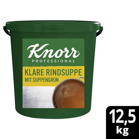 Knorr Professional Klare Rindsuppe mit Suppengrün 12,5KG - Knorr Klare Fleischsuppe – beliebter Geschmack, sofort einsatzbereit und gut kalkulierbar.