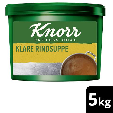 Knorr Professional Klare Rindsuppe mit Suppengrün 5KG - Knorr Klare Fleischsuppe – beliebter Geschmack, sofort einsatzbereit und gut kalkulierbar.