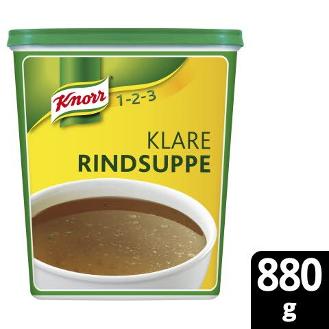 Knorr Klare Rindsuppe mit Suppengrün 880g - Seit über 100 Jahren erfolgreich in Deutschlands Küchen.