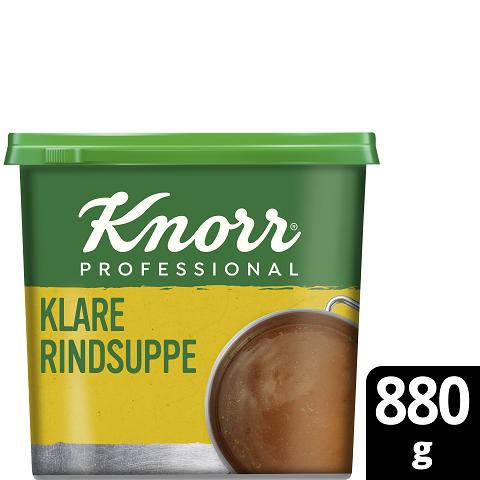 Knorr Professional Klare Rindsuppe mit Suppengrün 880g - Knorr Klare Rindsuppe – beliebter Geschmack, sofort einsatzbereit und gut kalkulierbar.
