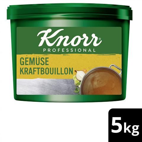 Knorr Professional Klare Gemüse Kraftbouillon mit Suppengrün 5KG - Knorr Gemüse Kraftbouillon –vielseitig einsetzbar bei 100 % natürlichem Geschmack.