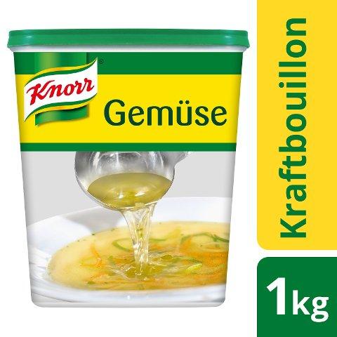 Knorr Professional Gemüse Kraftbouillon mit Suppengrün 1 KG - Knorr Gemüse Kraftbouillon –vielseitig einsetzbar bei 100 % natürlichem Geschmack.