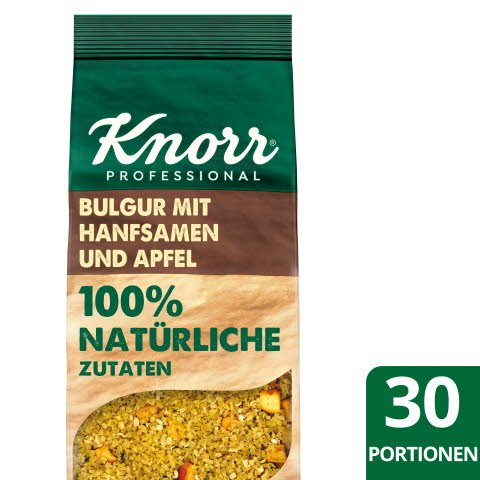 Knorr Bulgur mit Hanfsamen und Apfel 100% natürliche Zutaten 650g