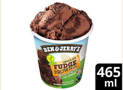Ben & Jerry's Chocolate Fudge Brownie vegan Becher 465 ml -