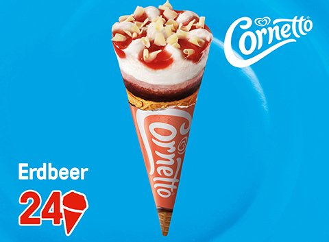 Cornetto Erdbeer 121 ml -
