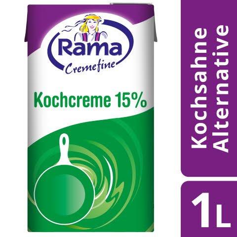 Rama Cremefine Kochcreme wie Kochsahne verwenden 15% Fett 1l - Rama Cremefine - für sehr hohe Stabilität bei jeder Anwendung.