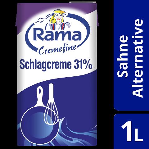 Rama Cremefine Schlagcreme - Alternative zu Sahne auf Pflanzenölbasis 1 L