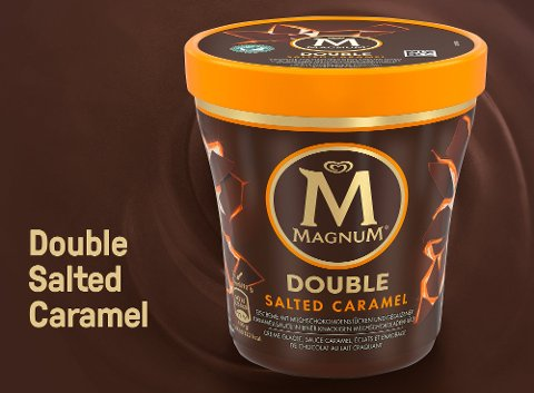 Magnum Double Salted Caramel Eis Becher 440 ml  -