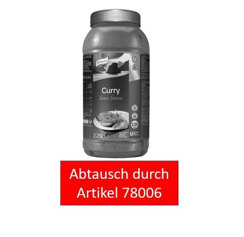 Knorr Curry Sauce 2,25 L -