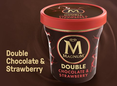 Magnum Double Chocolate & Strawberry Eis 440 ml -