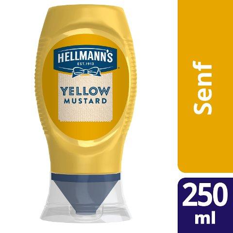 Hellmann's American Style Yellow Mustard 250 ml - HELLMANN's Yellow Mustard –mild-würziger Senf nach amerikanischem Vorbild.
