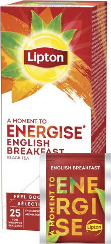 Lipton English Breakfast Schwarztee 25 Beutel -