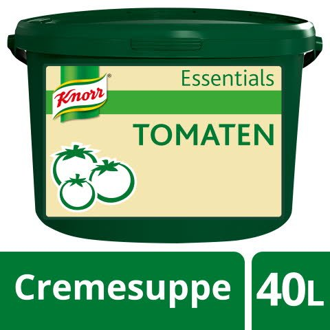 Knorr Essentials Clean Label Tomato Soup (Tomaten Cremesuppe) 4 KG -