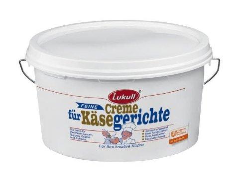 Lukull Feine Creme für Käsegerichte 3,5 KG -