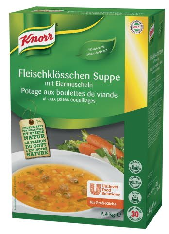 Knorr Fleischklösschen Suppe mit Eiermuscheln 2,4 KG