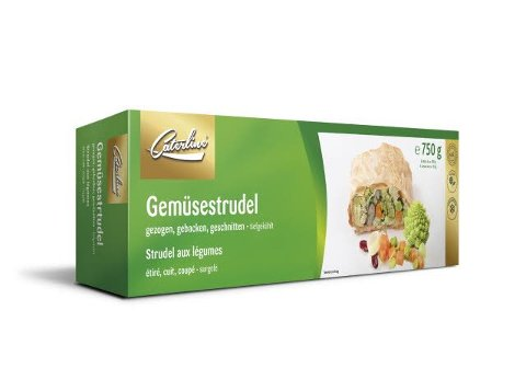 Caterline Gemüsestrudel - vegan 4,5 KG (30 Stk. à ca. 150 g)