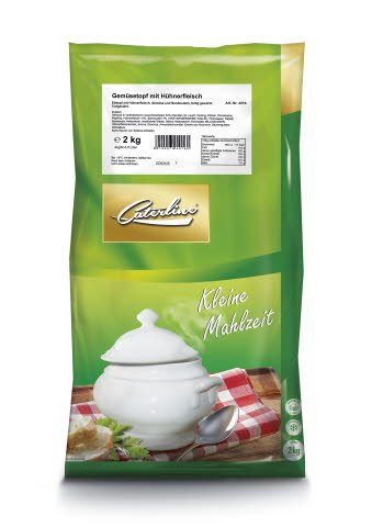 Caterline Gemüsetopf mit Hühnerfleisch 2 KG (10 Portionen à ca. 200 ml)