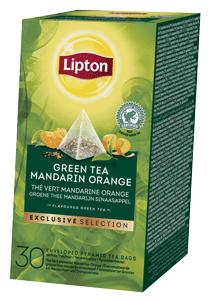 Lipton Grüner Tee Mandarine Orange Pyramid 30 Beutel - Lipton Exclusive Selection bietet erfrischende Ideen für modernen Tee-Lifestyle.