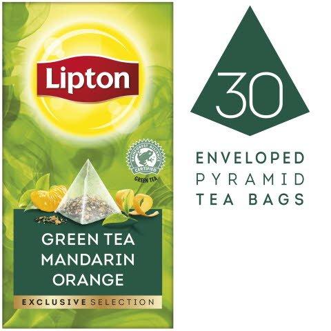 Lipton Grüner Tee Mandarine Orange Pyramid 30 Beutel