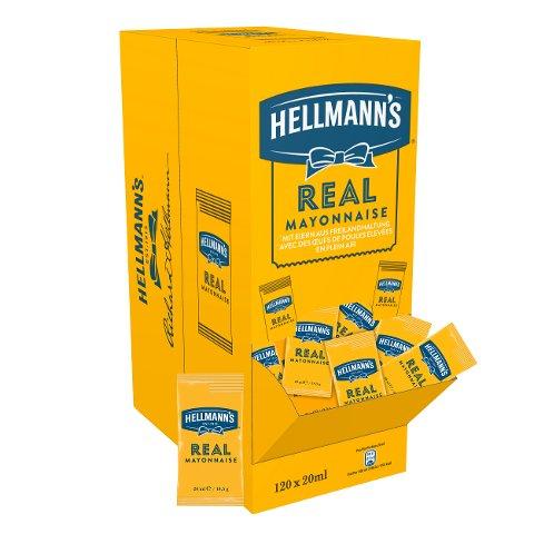 Hellmann's Real Mayonnaise 120x20ml Portionspackungen - Hellmann's REAL Mayonnaise  – authentischer Mayo-Geschmack seit 1913.