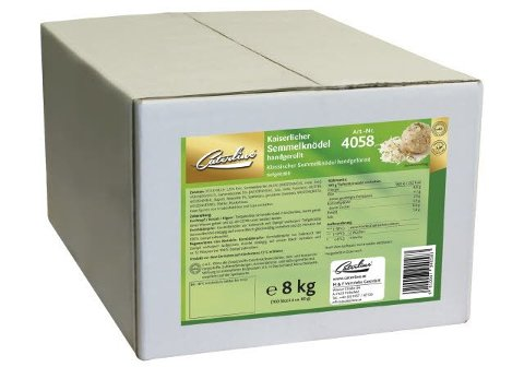 Caterline Kaiserlicher Semmelknödel handgerollt 8 KG (100 Stk. à ca. 80 g)