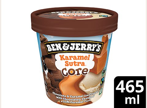 Ben & Jerry's Karamel Sutra Eis Becher 465 ml -