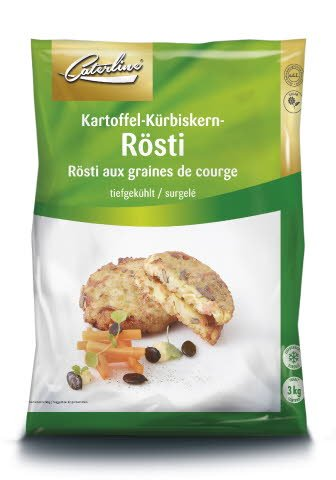 Caterline Kartoffel-Kürbiskern-Rösti 3 KG (60 Stk. à ca. 50 g)
