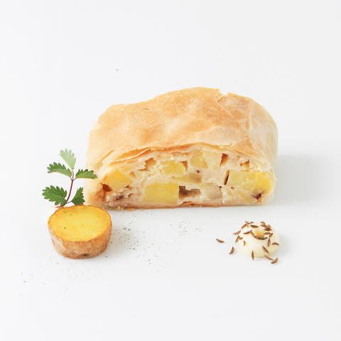 Caterline Kartoffelstrudel - vegan   4,5 KG (30 Stk. à ca. 150 g) -