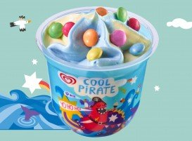 Langnese Fertige Eisdesserts Kids-Cup Cool Pirate 100 ml -
