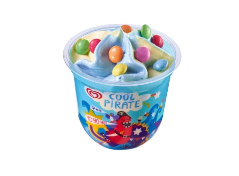 Langnese Fertige Eisdesserts Kids-Cup Cool Pirate 24 x 100 ml -