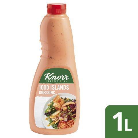 Knorr Dressing 1000 Islands 6x1L Flasche - Knorr Dressings –vegetarisch und sofort einsetzbar.