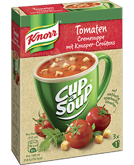 Knorr Cup a Soup Instant Suppe Tomatencreme ergibt 3 x 150 ml -