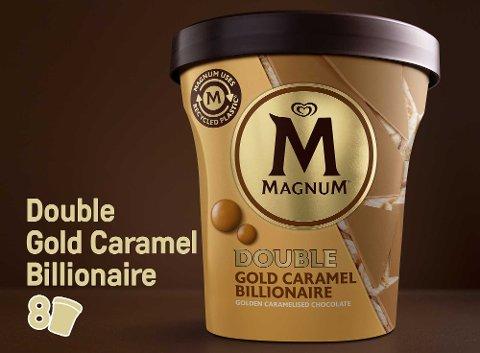 Magnum Double Gold Caramel Billionaire Eis Becher 440 ml -